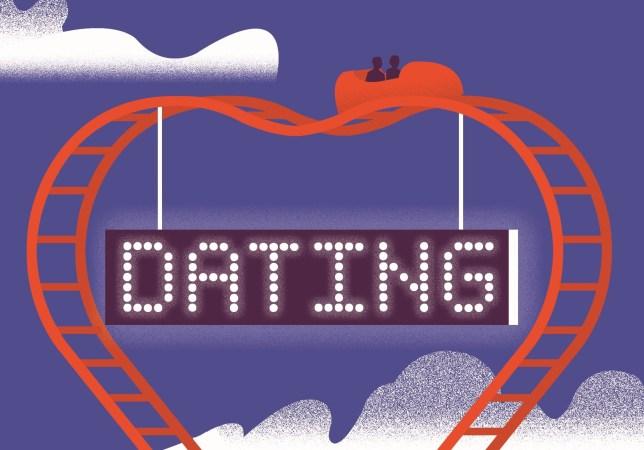 dating roller coaster illustration for lisa scott's sex column