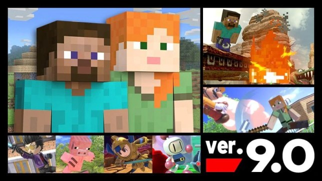 Steve from Minecraft in Smash Bros.