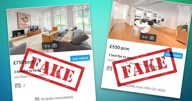 Fake listings were posted after an estate agent was subject to a scam