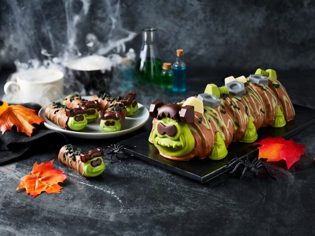 frankencolin - the halloween edition of colin the caterpillar cake