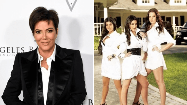 Kris Jenner and her daughters in KUWTK
