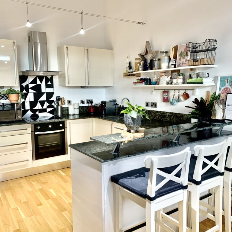 what i rent: Cara and Nat, new islington, manchester - the kitchen