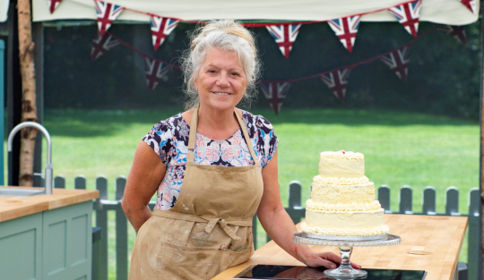 Linda on Great British Bake Off