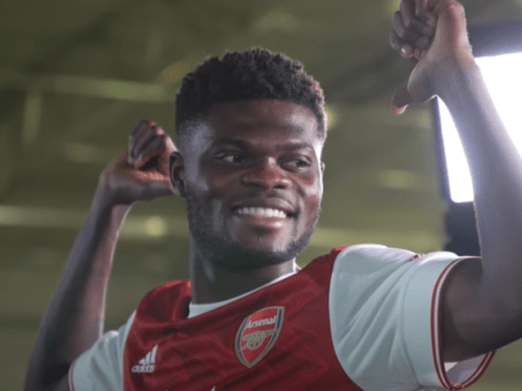 Thomas Partey meets Pierre-Emerick Aubameyang, Alexandre Lacazette and Ian Wright on first day at Arsenal