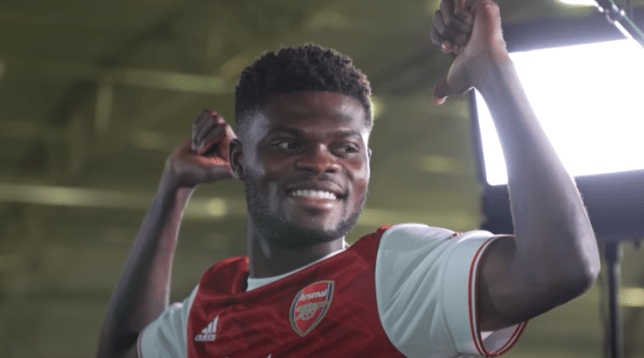Thomas Partey received a warm welcome on his first day at Arsenal