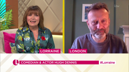 Lorraine Kelly and Hugh Dennis