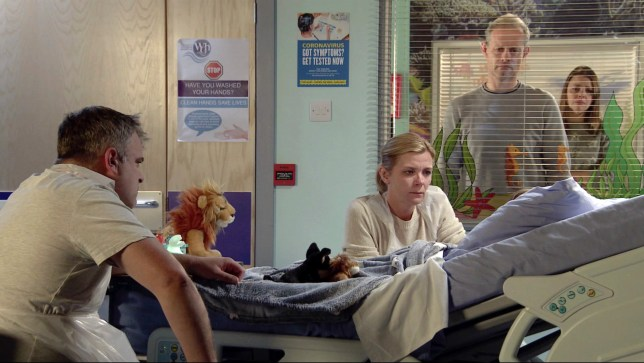 Leanne, Steve, Nick, Oliver andTracy in Coronation Street