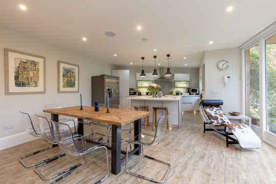 kitchen of house in gloucester square