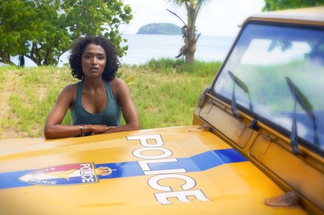 Television Programme: Death in Paradise, with Camille Bordey (SARA MARTIN). Programme Name: Death in Paradise - TX: n/a - Episode: n/a (No. 1) - Embargoed for publication until: 18/10/2011 - Picture Shows: Camille Bordey (SARA MARTIN) - (C) Red planet - Photographer: Amelia Troubridge