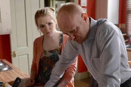 Lorna Fitzgerald and Jake Wood in EastEnders