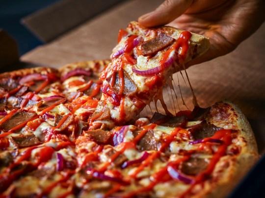 domino's beef doner kebab pizza