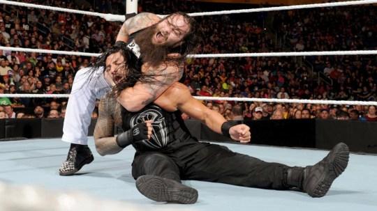 WWE superstars Bray Wyatt and Roman Reigns on Raw