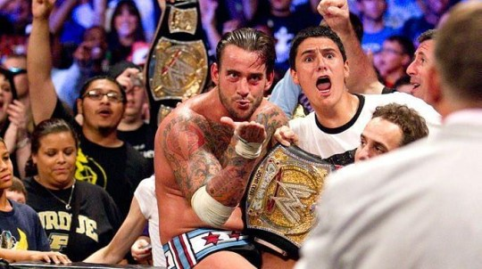 WWE superstar CM Punk wins the WWE Championship from John Cena at Money In The Bank 2011