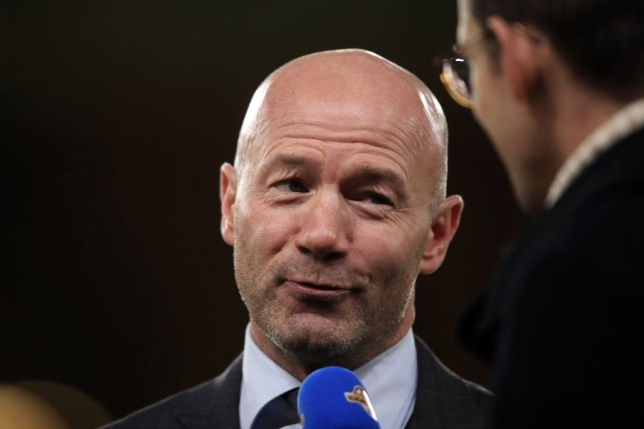 Alan Shearer working as a television pundit during the Emirates FA Cup Third Round match between Wolverhampton Wanderers and Liverpool at Molineux on January 7, 2019 in Wolverhampton, United Kingdom.