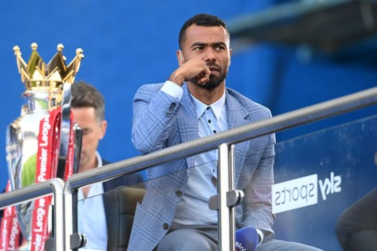 Former Chelsea player, television presenter working for Sky Sports, Ashley Cole is pictured ahead of the English Premier League football match between Chelsea and Liverpool at Stamford Bridge in London on September 20, 2020.