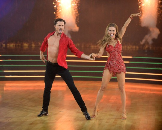 Chrishell Stause and her professional partner Gleb Savchenko on Dancing with the Stars