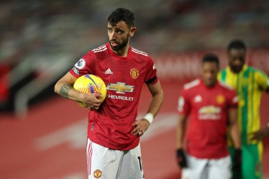 Fernandes scored his retaken penalty