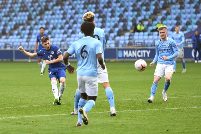 Billy Gilmour scores for Chelesa's development side against Manchester City