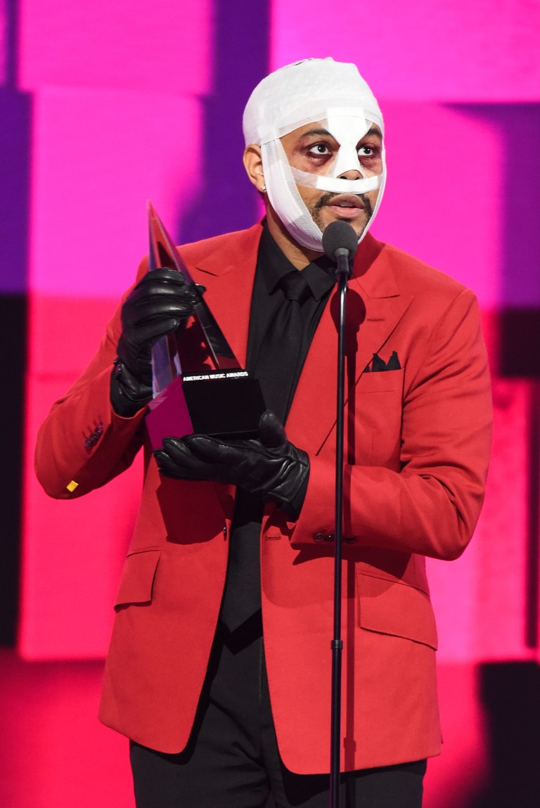 The Weeknd at the American Music Awards 2020