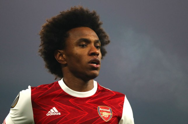 Willian has struggled for form in recent weeks for Arsenal