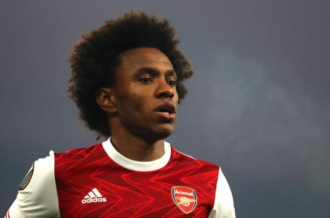 Arsenal winger Willian travelled to Dubai during the international break