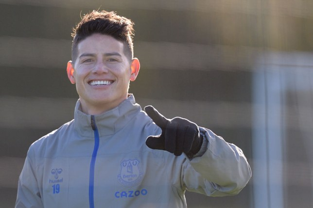 James Rodriguez during the Everton Training Session at USM Finch Farm on November 4 2020 in Halewood, England.
