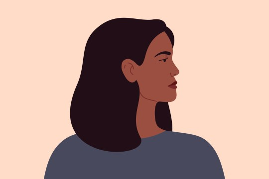 illustration of a black woman looking to the side