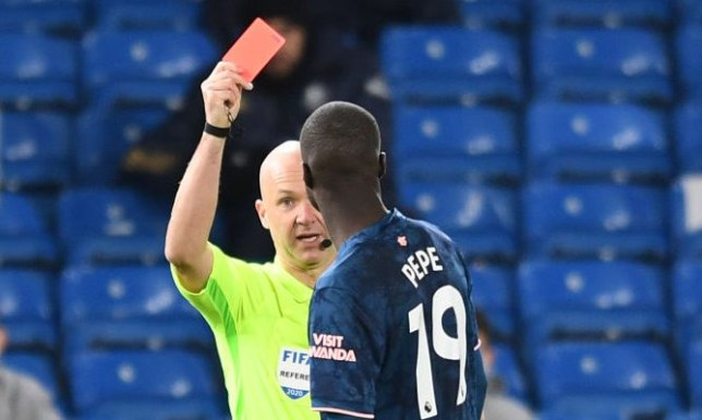 Mikel Arteta was fiercely critical of Nicolas Pepe after he was sent off against Leeds United