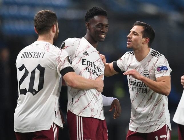 Folarin Balogun scored his first Arsenal goal in Thursday's win over Molde