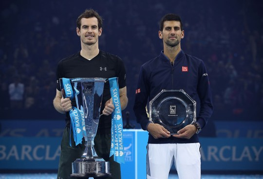 Andy Murray of Great Britain following his victory during the Singles Final against Novak Djokovic of Serbia at the O2 Arena on November 20, 2016 in London, England.