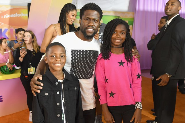 Kevin Hart and daughter Heaven and son Hendrix