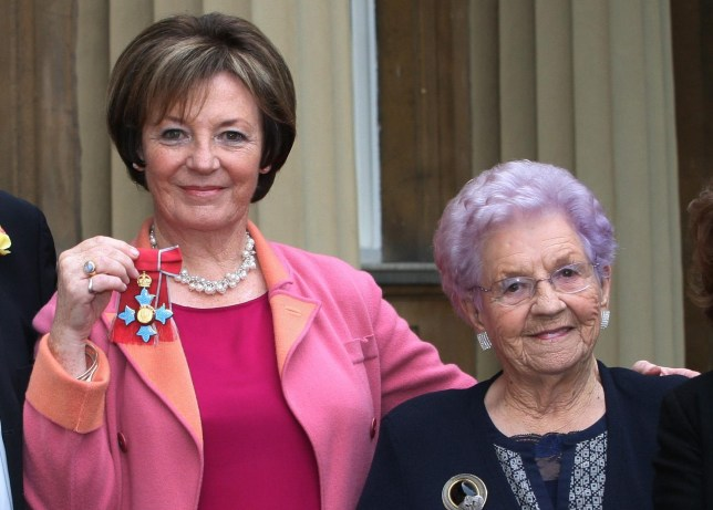 Delia Smith with her mother Etty Smith.