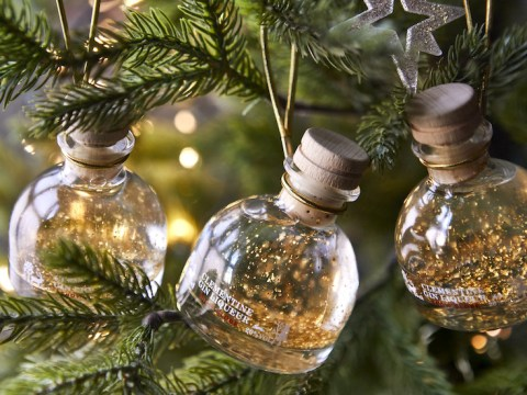 M&S releases mini glitter gin bottle baubles for your Christmas tree