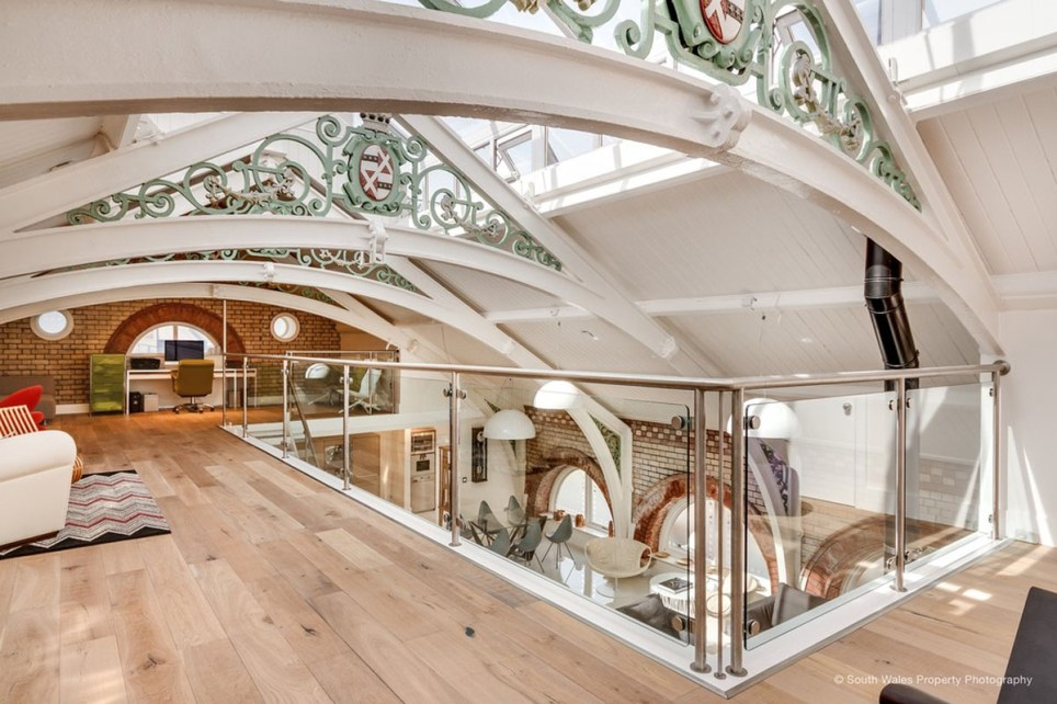 victorian municipal baths converted into an apartment now up for sale