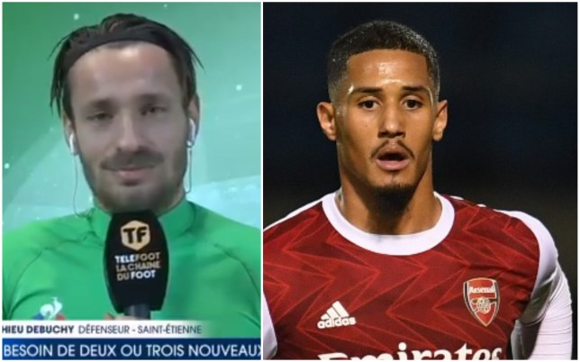 Mathieu Debuchy says Arsenal defender William Saliba is welcome back at Saint-Etienne