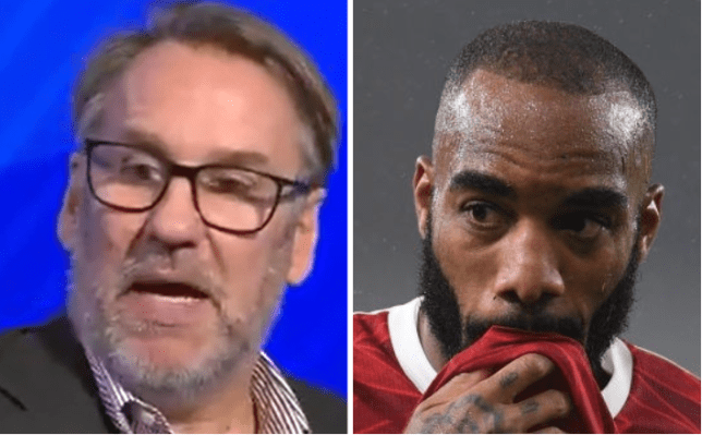 Paul Merson has been unimpressed with Alexandre Lacazette's body language