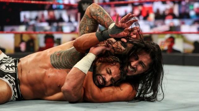 WWE superstars Ricochet and Mustafa Ali on Raw