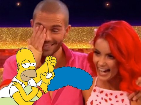 Strictly 2020: Max George stunned after Dianne Buswell reveals he's dancing as Homer Simpson in Movie Week