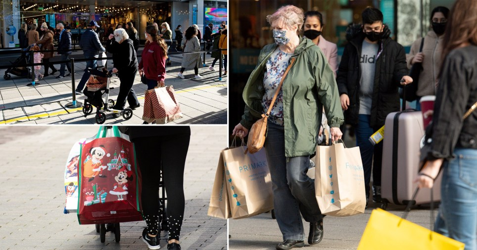 Shoppers were out in force in Gateshead and Birmingham