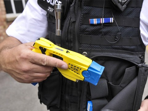 Police officer fired taser at suspect five times after he fell into river