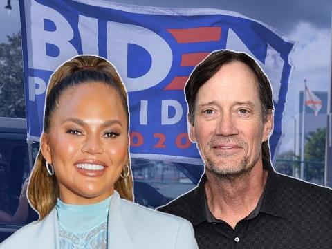 Chrissy Teigen drags Hercules star Kevin Sorbo for 'stupid' tweet about 'Biden flags'