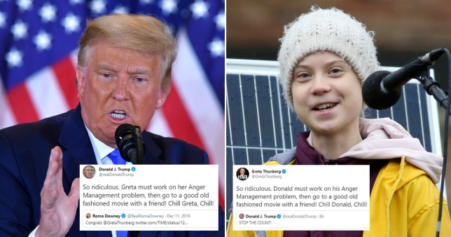Greta Thunberg tells Trump to 'chill' as he demands 'rigged' count be stopped