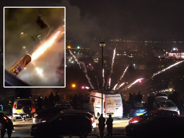 Fireworks used as weapons across London and Liverpool on night of chaos
