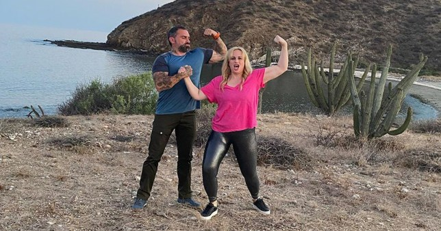 Rebel Wilson and Ant Middleton pictured filming new show