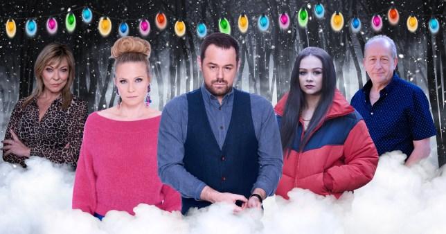 Kim Tate in Emmerdale, Mick and Linda in EastEnders, Juliet in Hollyoaks and Geoff in Coronation Street Christmas 2020