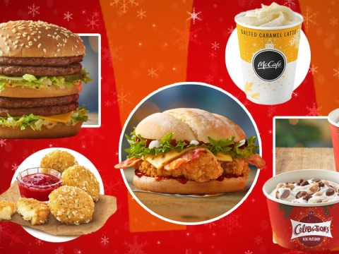 McDonald's Christmas menu includes Celebrations McFlurry, Jerk Chicken Sandwich, and a double Big Mac