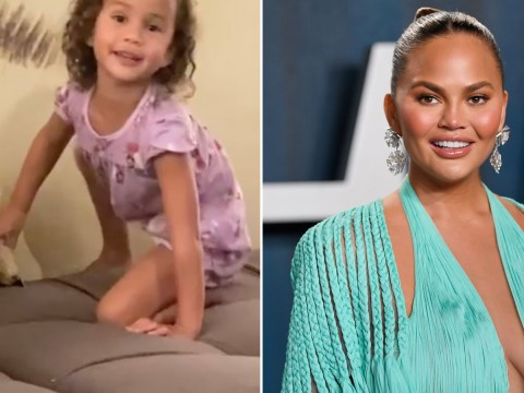Chrissy Teigen 'thinking about baby Jack a lot' as she shares sweet video of daughter Luna talking to his ashes