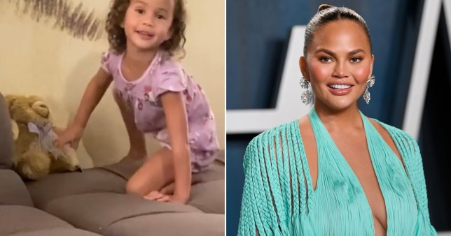 Chrissy Teigen pictured alongside daughter Luna