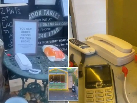 Pub puts phone outside so drinkers can pre-order in lockdown loophole