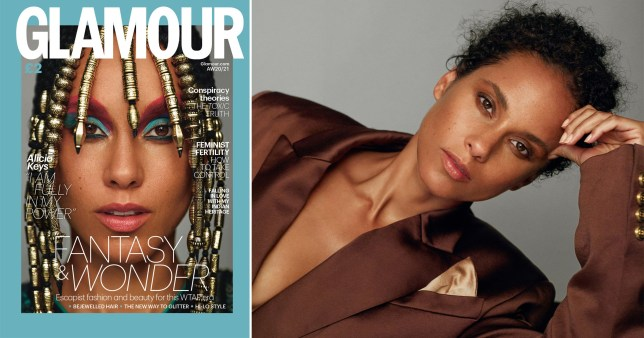 Alicia Keys on the cover of Glamour UK